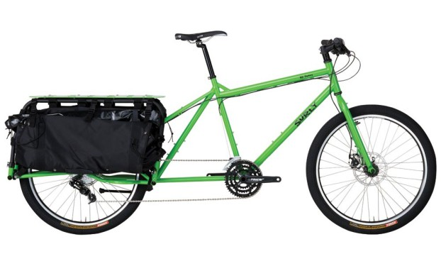 Surly Big Dummy in soil ant green